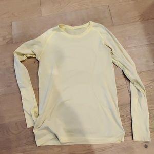 Yellow lulu long sleeve shirt